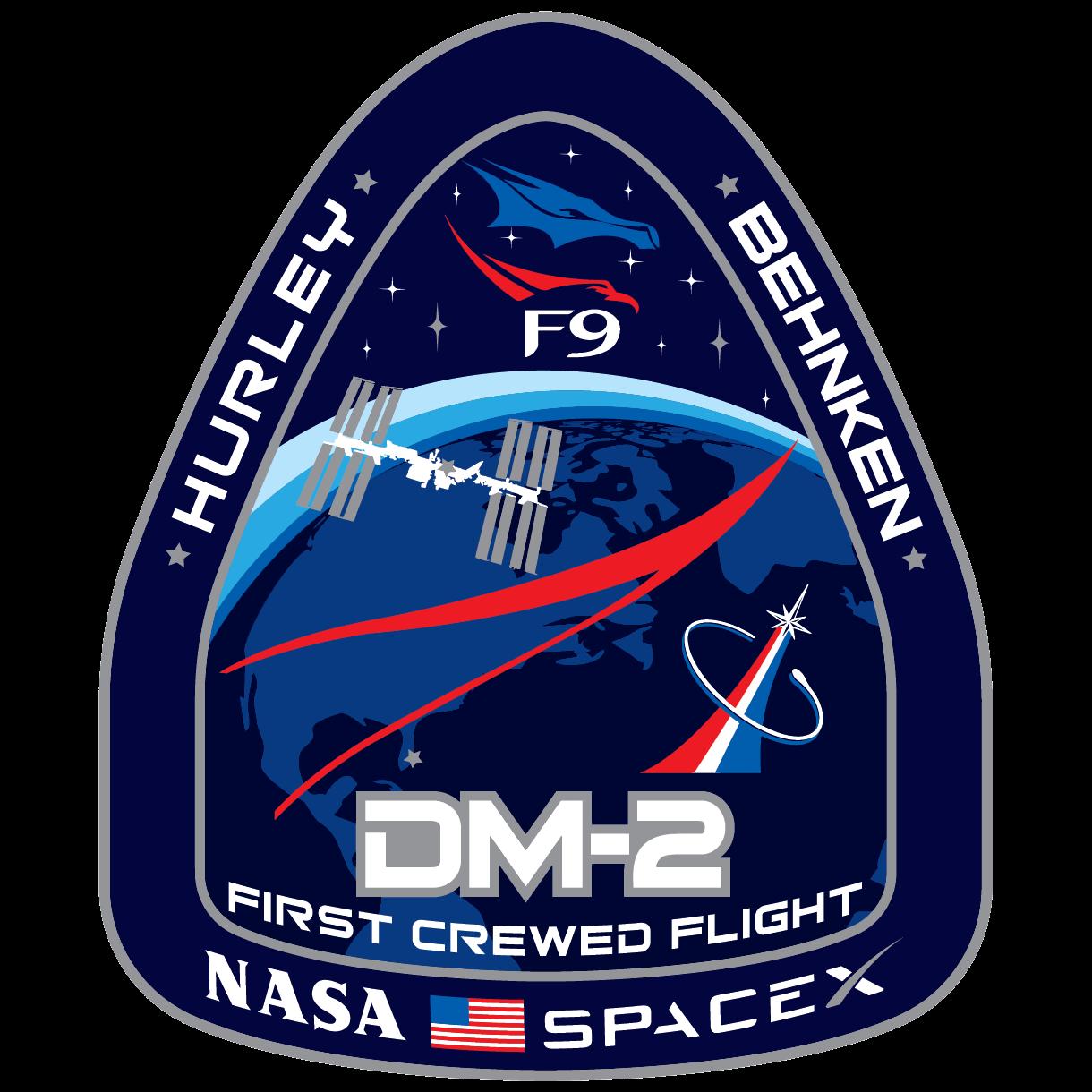 Logo misji DM-2 przygotowane przez NASA