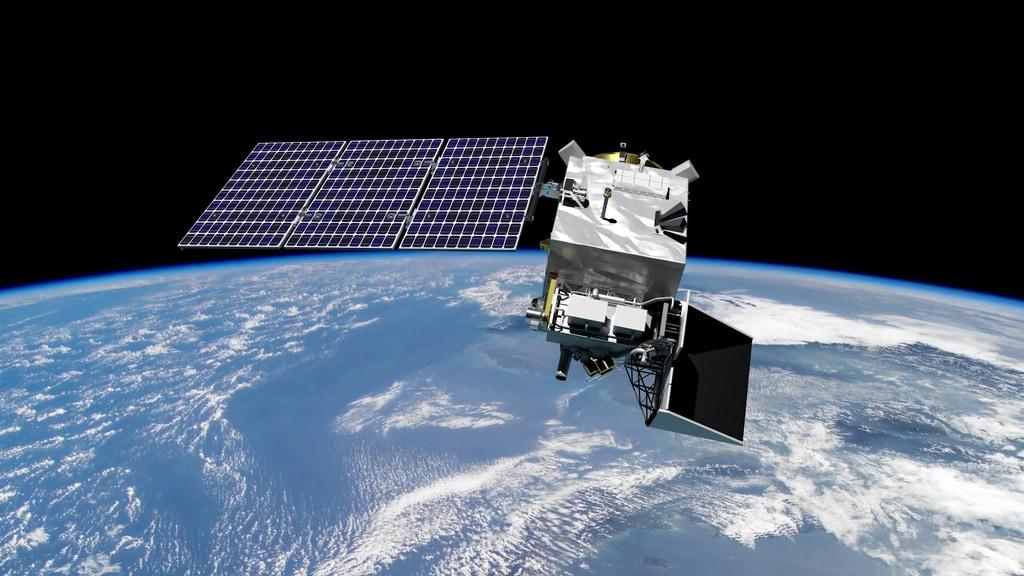 PACE na orbicie wokół Ziemi, wizja artysty (Źródło: NASA/GSFC)